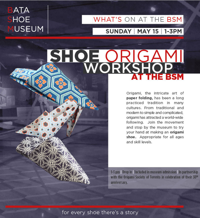 Origami Shoe Workshop @ Bata Shoe Museum