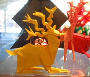 Reindeer created and folded by Alan Mescallado.